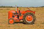 1953 Case model S tractor in a field during EDGE&TA 13 Fall Gas-Up at McFarland Ranch, Galt, Calif..