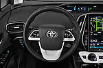 Car pictures of steering wheel view of a 2017 Toyota PRIUS PRIME Four 5 Door Hatchback