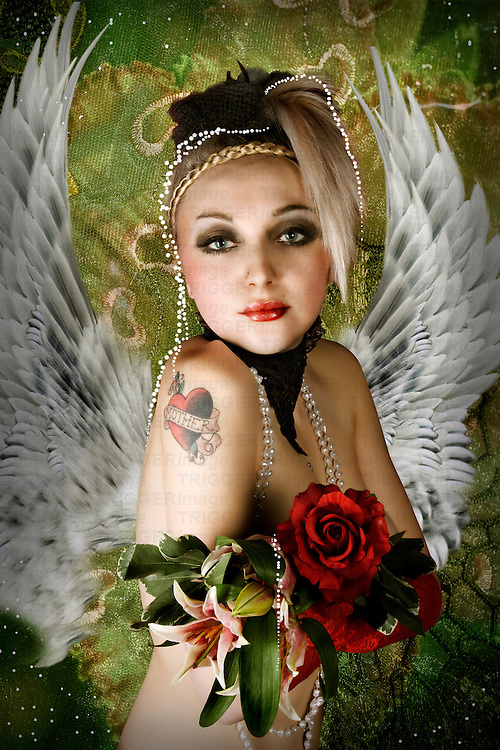 sexy angel with wings