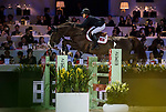 Jacqueline Lai of Hong Kong riding Basta competes in the Longines Grand Prix during the Longines Masters of Hong Kong at AsiaWorld-Expo on 11 February 2018, in Hong Kong, Hong Kong. Photo by Zhenbin Zhong / Power Sport Images