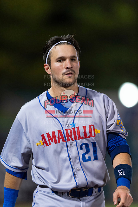 Amarillo Sod Poodles catcher Luis Torrens (21) during a Texas League game against the Springfield Cardinals on April 25, 2019 at Hammons Field in Springfield, Missouri. Springfield defeated Amarillo 8-0. (Zachary Lucy/Four Seam Images)
