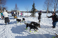 Brent Sass runs along the bike/ski trail during the ceremonial start of the Iditarod sled dog race Anchorage Saturday, March 2, 2013. ..Photo (C) Jeff Schultz/IditarodPhotos.com  Do not reproduce without permission