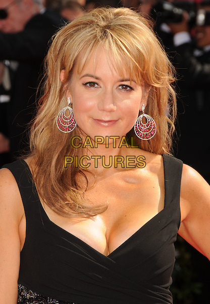 MEGYN PRICE .62nd Annual Primetime Emmy Awards held at NOKIA Theatre L.A. LIVE, Los Angeles, California, USA..August 29th, 2010.headshot portrait black cleavage  silver red earrings .CAP/ADM/BP.©Byron Purvis/AdMedia/Capital Pictures.