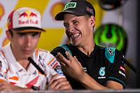 31st October 2019; Sepang Circuit, Sepang Malaysia; MotoGP Malaysia, Practice Day;  Fabio Quartararo, Marc Marquez during the press conference - Editorial Use