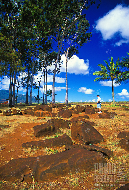 Kukaniloko Birthstones State Monument. Birthplace of the Alii. Located in the pineapple fields of central Oahu.