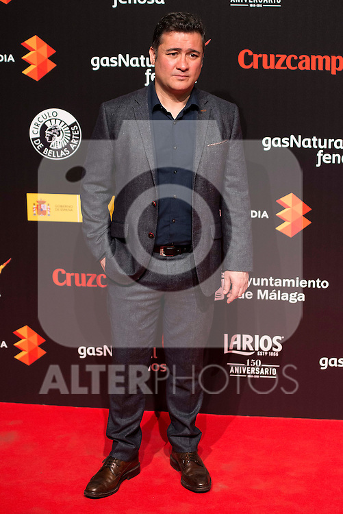 Secun de la Rosa attends to the cocktail presentation of the XIX Malaga Film Festival at Circulo de Bellas Artes in Madrid. April 06, 2016. (ALTERPHOTOS/Borja B.Hojas)