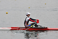 099 NottinghamRC J16A.1x..Marlow Regatta Committee Thames Valley Trial Head. 1900m at Dorney Lake/Eton College Rowing Centre, Dorney, Buckinghamshire. Sunday 29 January 2012. Run over three divisions.