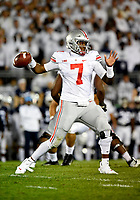 STATE COLLEGE, PA - SEPTEMBER 29: Ohio State QB Dwayne Haskins, Jr. (7) throws from the pocket. The Ohio State Buckeyes defeated the Penn State Nittany Lions 27-26 on September 29, 2018 at Beaver Stadium in State College, PA. (Photo by Randy Litzinger/Icon Sportswire)