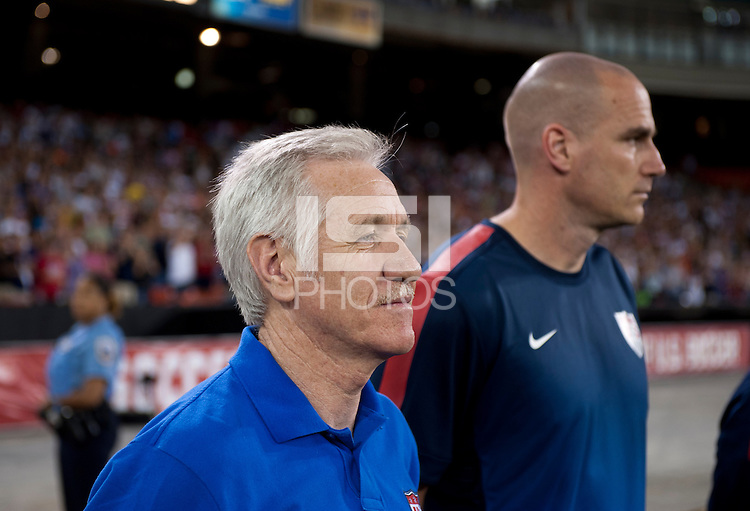 Tom Sermanni, Paul Rogers. The USWNT defeated Mexico, 7-0, during an international friendly at RFK Stadium in Washington, DC.  The USWNT defeated Mexico, 7-0.