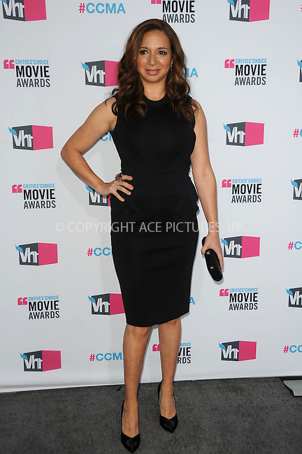 WWW.ACEPIXS.COM . . . . .  ....January 12 2012, LA....Actress Maya Rudolph arriving at the 17th Annual Critics Choice Movie Awards at Hollywood Palladium on January 12, 2012 in Hollywood, California....Please byline: PETER WEST - ACE PICTURES.... *** ***..Ace Pictures, Inc:  ..Philip Vaughan (212) 243-8787 or (646) 679 0430..e-mail: info@acepixs.com..web: http://www.acepixs.com