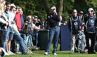 Deep in thought is Ian Poulter (ENG) as his final round nears to a close, during the Final Round of the British Masters 2015 supported by SkySports played on the Marquess Course at Woburn Golf Club, Little Brickhill, Milton Keynes, England.  11/10/2015. Picture: Golffile | David Lloyd<br /> <br /> All photos usage must carry mandatory copyright credit (&copy; Golffile | David Lloyd)