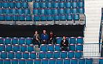 Stockholm 2014-10-02 Ishockey Hockeyallsvenskan AIK - BIK Karlskoga :  <br /> Publik och tomma stolar i Hovet under matchen mellan AIK och BIK Karlskoga <br /> (Foto: Kenta J&ouml;nsson) Nyckelord:  AIK Gnaget Hockeyallsvenskan Allsvenskan Hovet Johanneshovs Isstadion Bofors BIK Karlskoga supporter fans publik supporters inomhus interi&ouml;r interior