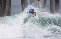 Huntington Beach, CA - Saturday August 05, 2017: Ricardo Christie during a World Surf League (WSL) Qualifying Series (QS) fifth round heat in the 2017 Vans US Open of Surfing on the South side of the Huntington Beach pier.