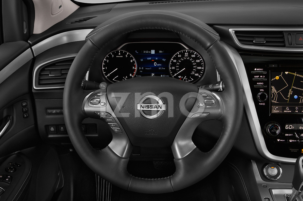 Car pictures of steering wheel view of a 2019 Nissan Murano SL 5 Door SUV Steering Wheel