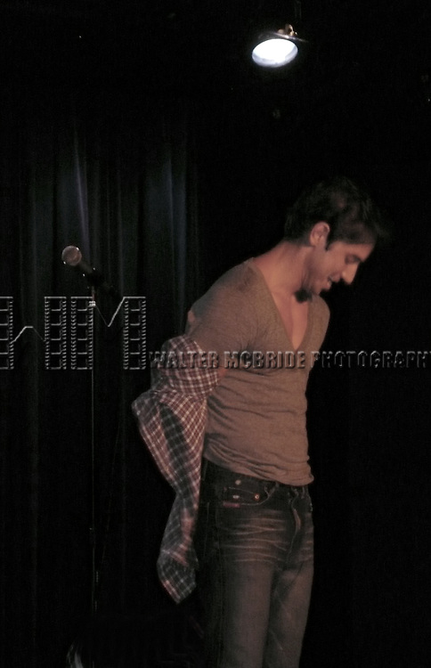 "NICK ADAMS from ""Guys and Dolls"" performs.@ THE AFTER PARTY.on May 29, 2009 at.The Laurie Beechman Theatre in New York City..© Walter McBride"