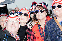 People gather for the Make America Great Again! Welcome Celebration honoring soon-to-be president Donald Trump at the Lincoln Memorial in  Washington, D.C., on Thurs., Jan. 19, 2017, the day before the presidential inauguration of Donald Trump. The event had musical performances, speeches, and an appearance by Trump and his family.
