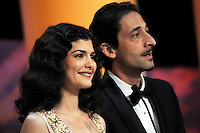 Audrey Tautou and Adrien Brody - 65th Cannes Film Festival closing ceremony.May 27th, 2012.