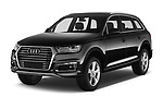 2017 Audi Q7-e-Tron Avus 5 Door SUV Angular Front stock photos of front three quarter view