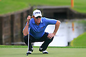 Miguel Angel Jimenez of Spain in action during the final round of the BMW PGA Championship played over the West Course at the Wentworth Club on 24th May 2015 in Virginia Water, Surrey, England. Picture Credit / Phil INGLIS