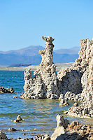 Sept. 5, 2010 - Mono Lake, California, U.S. - Tufa towers are seen along the shore of Mono Lake near Lee Vining, California. Mono Lake is a majestic body of water covering about 70 square miles. It is an ancient lake, over 1 million years old -- one of the oldest lakes in North America. It has no outlet and no fish; instead it is home to trillions of brine shrimp and alkali flies. (Photo by Alan Greth/ZUMA Press)