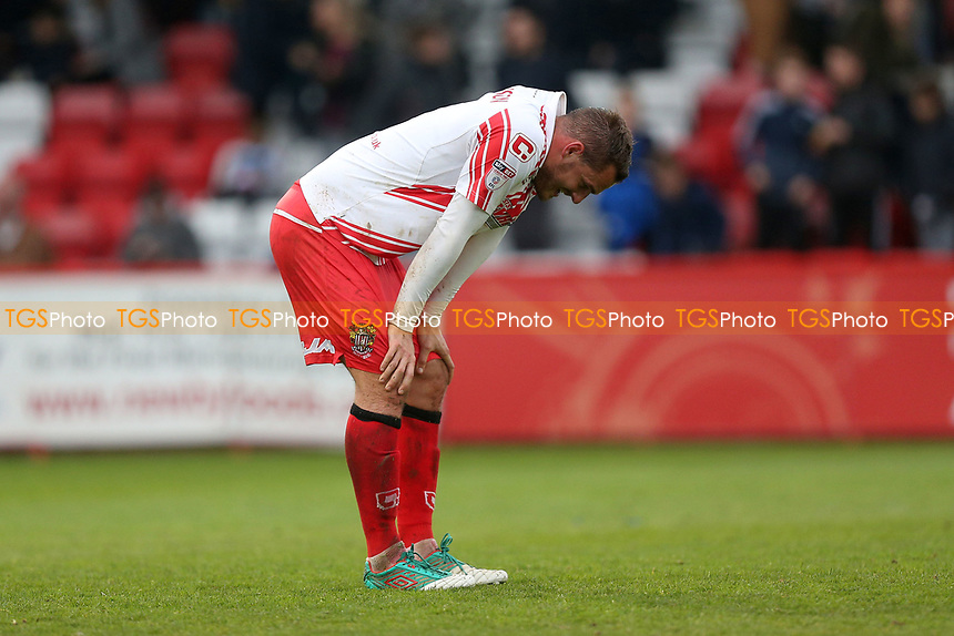 Disappointment for Luke Wilkinson of Stevenage during Stevenage vs Accrington Stanley, Sky Bet EFL League 2 Football at the Lamex Stadium on 6th May 2017