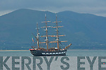 JEANIE JOHNSTON: Back in Tralee Bay the Jeanie Johnston at Fenit on Saturday morning.
