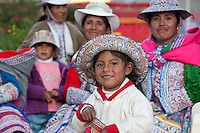 The people of Ichupampa wear meticulously woven clothing that is a significant part of their culture. Hats have an important significance, signifying which ethnic group they belong to the Cabana - quechua or valley people or the Collagua - highland people.