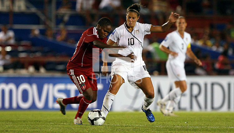 Carli Lloyd of United States. The US Women's National Team defeated Haiti 5-0 during the CONCACAF Women's World Cup Qualifying tournament at Estadio Quintana Roo in Cancun, Mexico on October 28th, 2010.