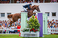 EGY-Karim Elzoghby rides Dierette during the Trofeo Oquendo - 1.50m. 2019 ESP-CSIO5* Gijon. Esturias, Spain. Thursday 29 August. Copyright Photo: Libby Law Photography
