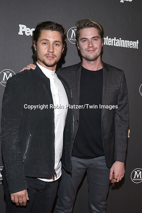 Augustus Prew and Jeffrey Self attends the Entertainment Weekly &amp; PEOPLE Magazine New York Upfronts Celebration on May 16, 2016 at Cedar Lake in New York, New York, USA.<br /> <br /> photo by Robin Platzer/Twin Images<br />  <br /> phone number 212-935-0770
