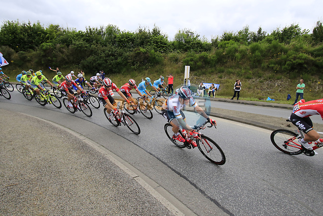 The peloton with Lotto-Soudal team working for Andre Greipel (GER) on the front pass through Segre during Stage 3 of the 2016 Tour de France, running 223.5km from Granville to Angers, France . 4th July 2016.<br /> Picture: Eoin Clarke | Newsfile<br /> <br /> <br /> All photos usage must carry mandatory copyright credit (&copy; Newsfile | Eoin Clarke)