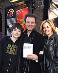 One Life To Live's Kassie DePaiva and their son JQ came to see James DePaiva as he stars in Nightmare Alley - a new musical - on April 2, 2011 at the Players Theatre, New York City, New York. James stars with Nickki Switzer, Dominique Plaisant, Zonya Love, Sheila Coyle, Jeremiah James, Joseph Dellger along with Steven Landau (Musical Director/Pianist) (L), Stella Berg (Stage Manager) & Barbara Ligeti & Jonathan Brielle (Book writer, Composer & Lyricist).  (Photo by Sue Coflin/Max Photos)