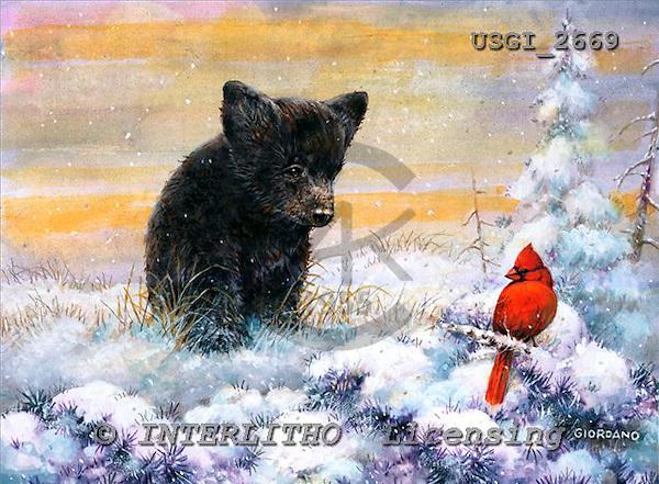 GIORDANO, CHRISTMAS ANIMALS, WEIHNACHTEN TIERE, NAVIDAD ANIMALES, paintings+++++,USGI2669,#XA# dogs,puppies