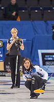 Glasgow. SCOTLAND.  Women's Semi Final&quot; Game. Le Gruy&egrave;re European Curling Championships. 2016 Venue, Braehead  Scotland.<br /> <br /> Friday  25/11/2016<br /> <br /> [Mandatory Credit; Peter Spurrier/Intersport-images]