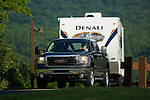 GMC towing Denali Travel Trailer.