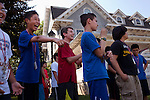 Students cheer for their kick ball teammates during Afternoon Activities at the Center for Talented Youth summer program at Lafayette College in Easton, PA on July 06, 2012. Several students were part of the Rural Connections scholarship program being offered for the first time this year.
