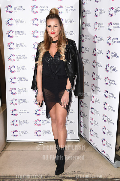Georgia Kousoulou arriving at James Ingham&rsquo;s Jog On to Cancer, in aid of Cancer Research UK at The Roof Gardens in Kensington, London.  <br /> 12 April  2017<br /> Picture: Steve Vas/Featureflash/SilverHub 0208 004 5359 sales@silverhubmedia.com