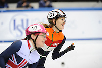 SHORT TRACK: TORINO: 14-01-2017, Palavela, ISU European Short Track Speed Skating Championships, Final A 500m Ladies, European Champion Rianne de Vries (NED), ©photo Martin de Jong