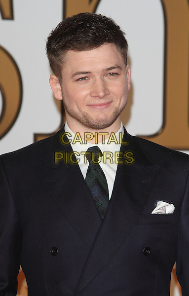 LONDON, ENGLAND - JANUARY 14: Taron Egerton attends the World Premiere of 'Kingsman: The Secret Service' at the Odeon Leicester Square on January 14, 2015 in London, England<br /> CAP/ROS<br /> &copy;Steve Ross/Capital Pictures