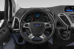 Car pictures of steering wheel view of a 2018 Ford Transit-Custom Trend 4 Door Passanger Van Steering Wheel