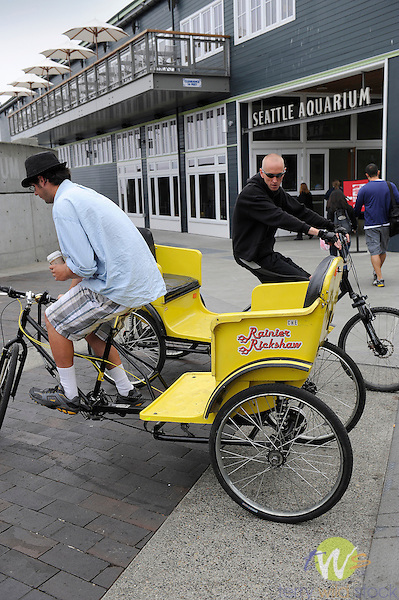 Bike taxis on Alaskan Way.