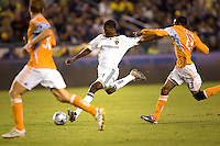 LA Galaxy forward Edson Buddle attempts a shot on goal during the Western Conference Final. The LA Galaxy defeated the Houston Dynamo 2-1 to win the MLS Western Conference Final at Home Depot Center stadium in Carson, California on Friday November 13, 2009.....