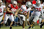 Ohio State quarterback Terrelle Pryor (2) scrambles under pressure during an NCAA college football game against the Wisconsin Badgers on October 16, 2010 at Camp Randall Stadium in Madison, Wisconsin. The Badgers beat the Buckeyes 31-18. (Photo by David Stluka)