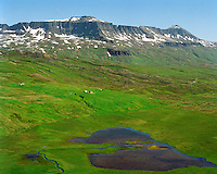 Stakkahlíð séð til austurs, Loðmundarfjörður, Borgarfjarðarhreppur / Stakkahlid viewing east, Lodmundarfjordur, Borgarfjardarhreppur.