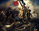 Liberty Leading the People (La Liberté guidant le peuple), Eugène Delacroix, 1830, Oil on canvas, Romanticism, Louvre Museum, Paris, France