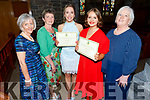 Maria Dwyer (Tralee) and Sinead Foran (Tralee) graduating from Mercy Mounthawk on Friday standing with Gretta Marie Kerins, Lil Hannafin and Patricia Dwyer.