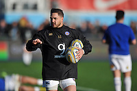 Horacio Agulla of Bath Rugby looks on during the pre-match warm-up. Aviva Premiership match, between Saracens and Bath Rugby on January 30, 2016 at Allianz Park in London, England. Photo by: Patrick Khachfe / Onside Images