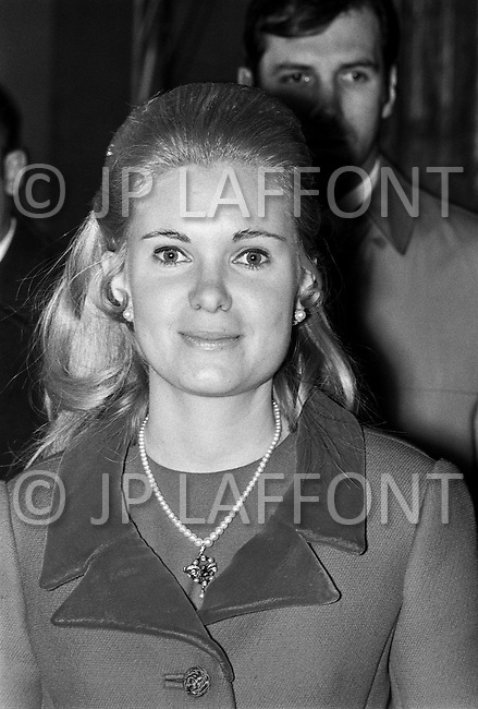 27 Jan 1971, Washington, DC, USA --- US President Richard Nixon's daughter Trisha Nixon at the Spanish Embassy in Washington. --- Image by © JP Laffont