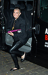 """Sinead O'Connor arrives before the concert at the """"Ancienne Belgique"""" in Brussels, 30th of september 2014 Brussels Belgium"""