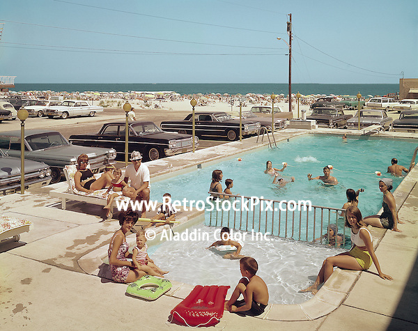 Gondolier Motel, Wildwood, NJ  1960's Kiddie Pool